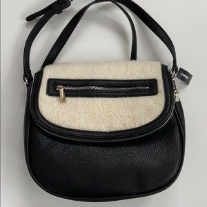NWT Express fleece / faux leather bag
